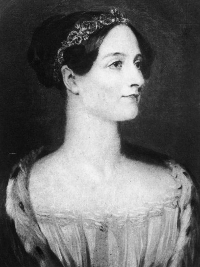 Portrait of Ada Lovelace, one of the founding women of tech
