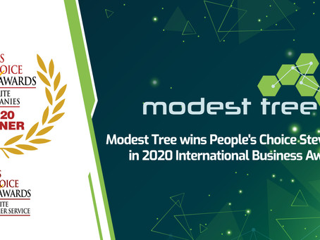 Modest Tree Media Inc. Wins People's Choice Stevie® Award in 2020 International Business Awards®
