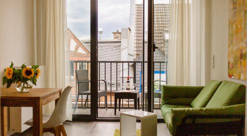 Balkon mit Blick auf Altstadt
