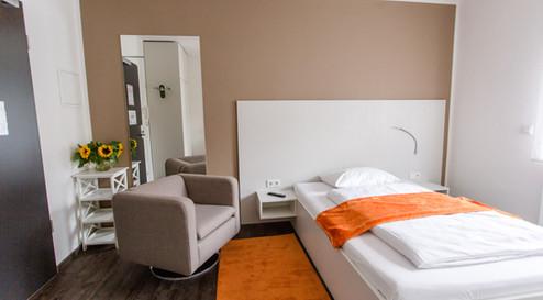 Schlafbereich Basic Apartment