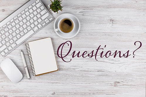 General Questions (30 min VIRTUAL session) *Regular Clients Only
