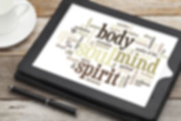 mind, body, spirit and soul - word cloud