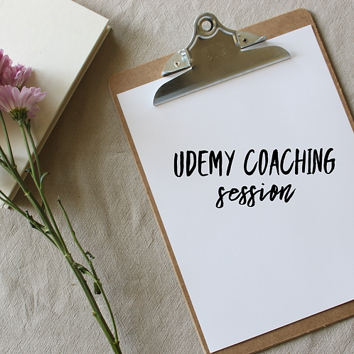 Udemy Coaching Session (60 minutes)