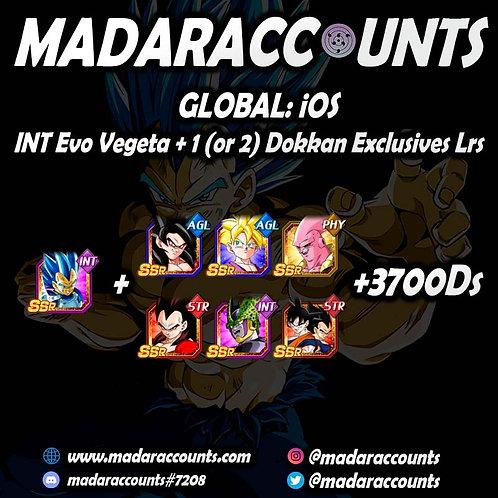 iOS/Global: Int Evo Vegeta + 1 (or 2) Dokkan Exclusives Lrs + 3700DS