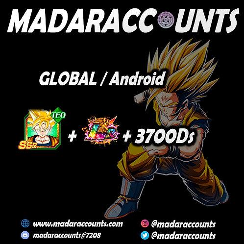 Android/Global: Full power Gohan + 1 random Lr + 3700DS