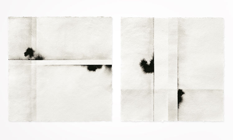 Gabriele Gutwirth Artist, Floating Ink, 'Distinction' I and II