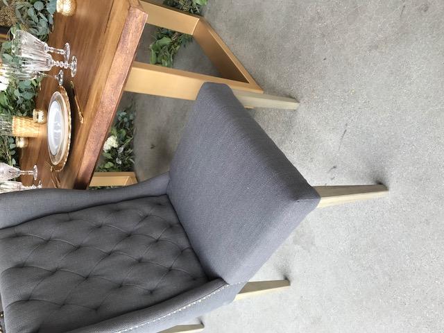Slate Tufted Chair