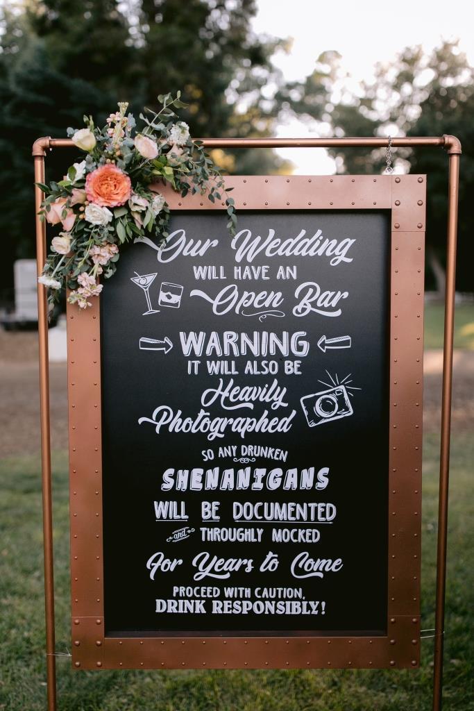 Shenanigans Copper Framed Sign