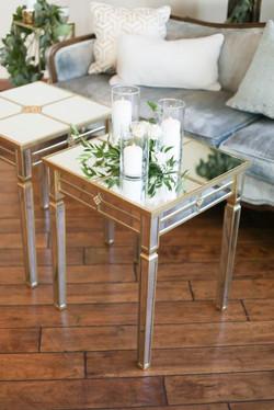 Vivien Mirrored Side Tables