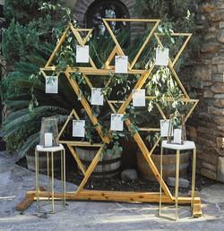 Geometric Triangle Wood Backdrop
