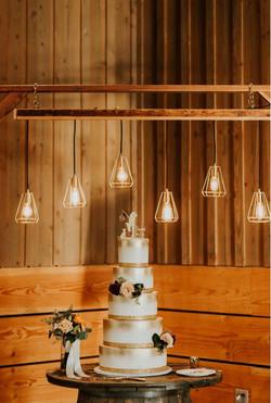 Redwood Arbor w/Edison Lights