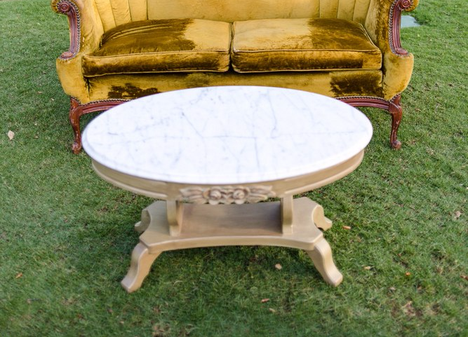 Vienna Oval Marble Coffee Table