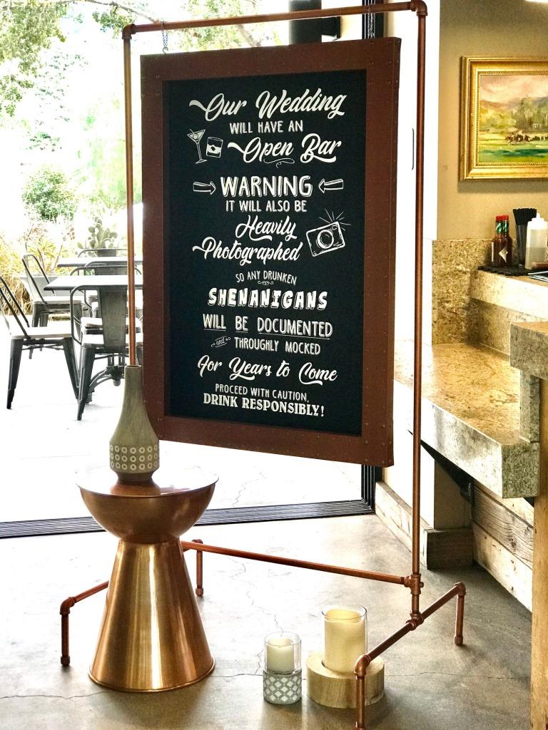 Shenanigans Copper Framed Sign