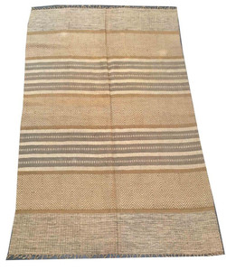 Gold and Grey Area Rug