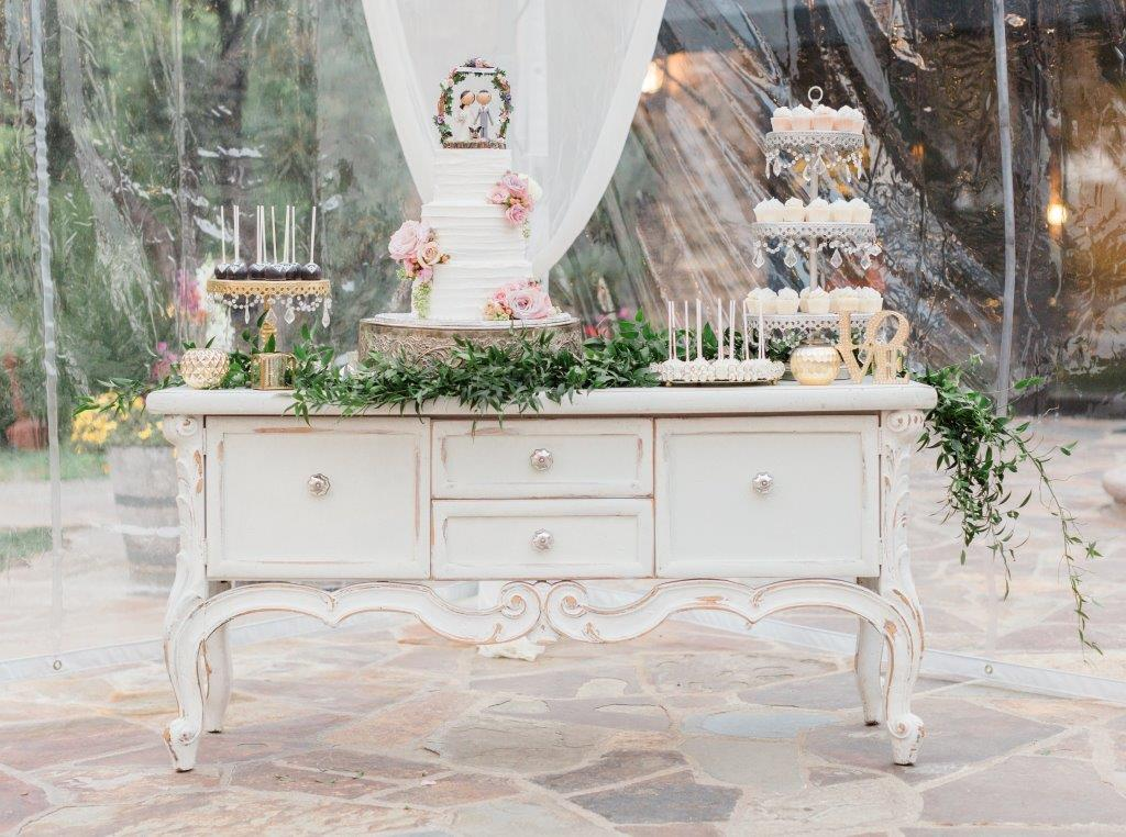 Victoria White Console Table