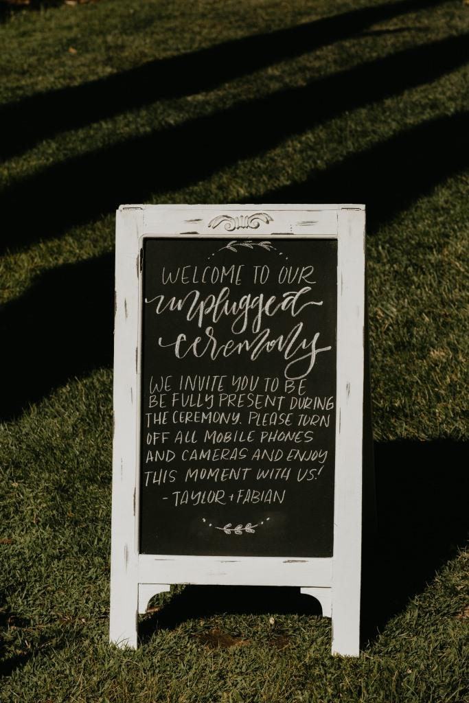Tent Chalkboard Sign