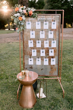 Framed Rusty Seating Chart