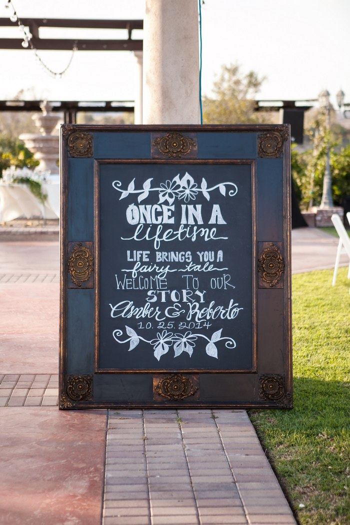 Over Sized Black Framed Chalkboard
