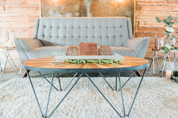 Sunburst Hairpin Coffee Table
