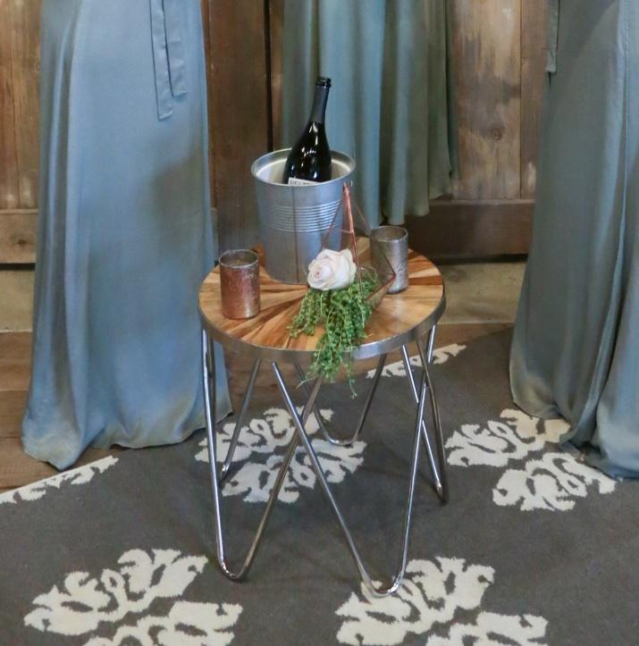 Sunburst Hairpin Side Tables