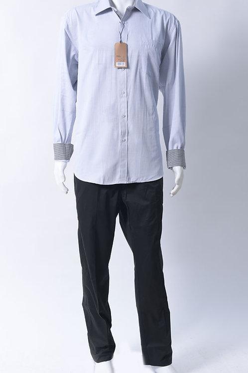חולצה מכופתרת רכה ומפנקת אפור בהיר