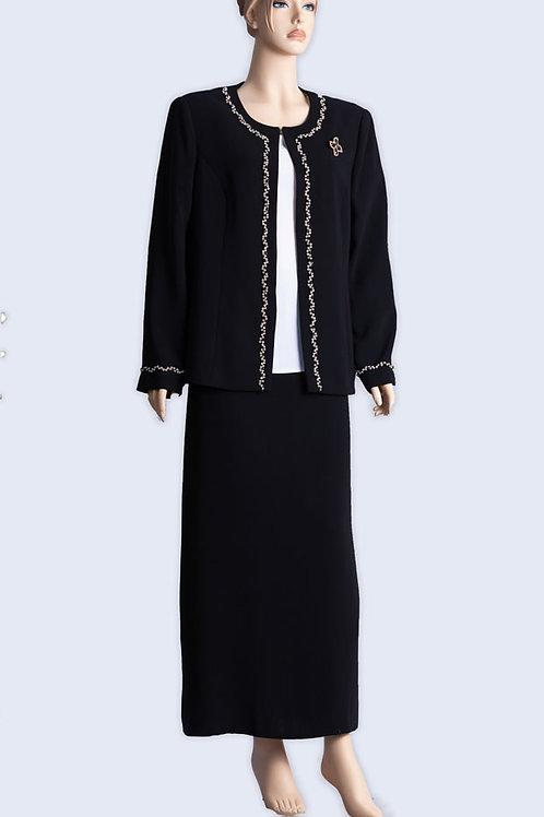 החליפת נשים אליגאנט עם זרקונים עדינים עלג'קט