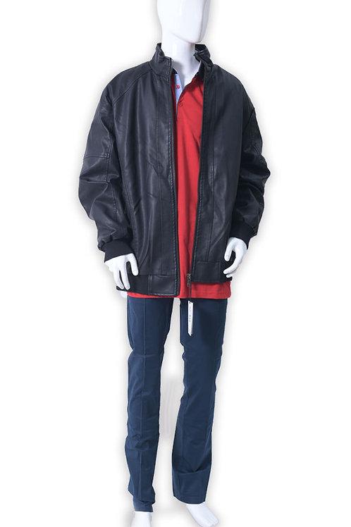 מעיל עור מיוחד עם כיסוי פרווה מבפנים