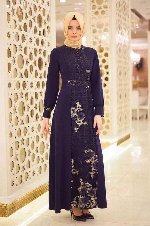 משמלה אלגנטית כחולה תאימה לאירועים ויום יום