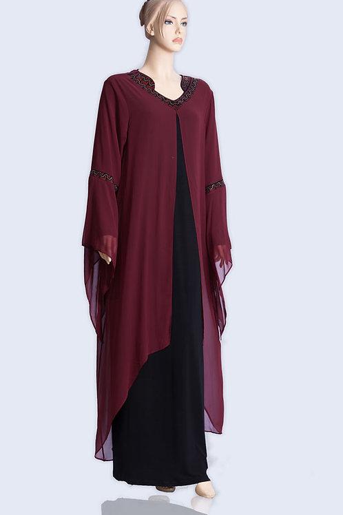 שדושדאשה  עם עיצוב בשרוולים ארוכה שילוב צבעים