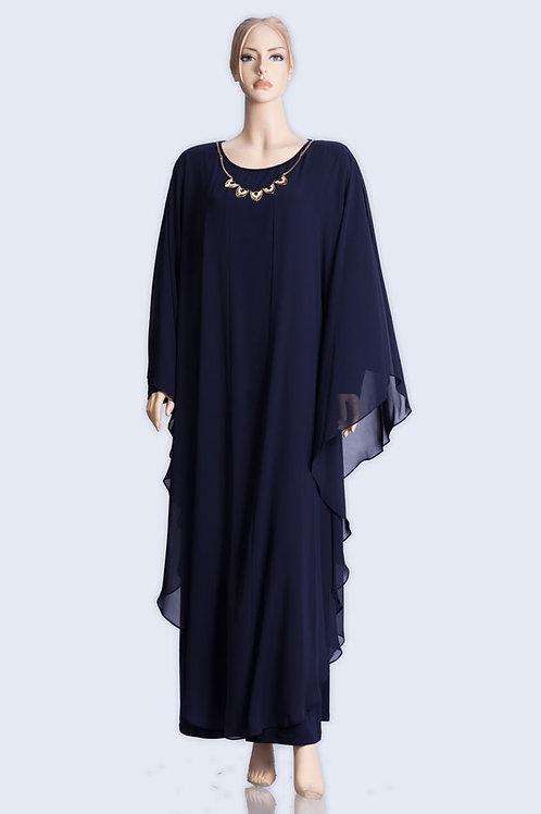 שמלה שיפון פרפר כחול