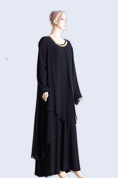 שמלת שיפון יוקרתית עם שרשרת 2 שכבות