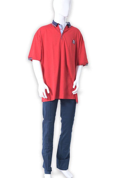 חולצה גבר לקוסט אדום