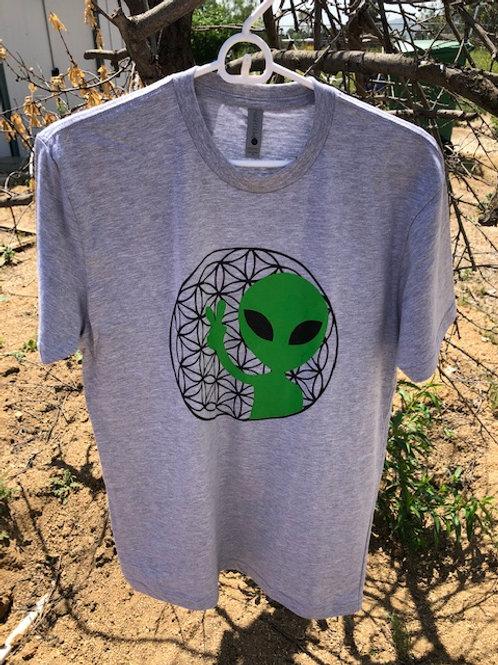 Alien w/ Flower of Life T-Shirt