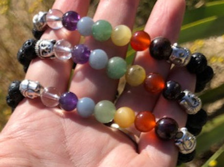 Chakra (Lava / Buddha) Bracelet