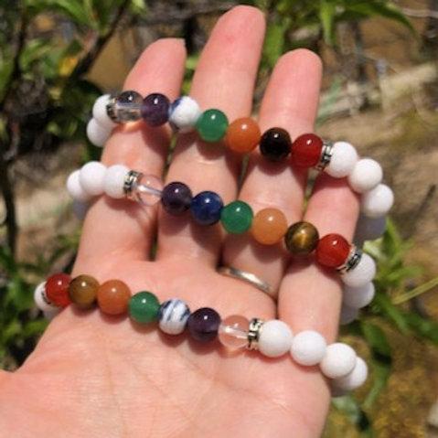 Chakra (white jade) Bracelet