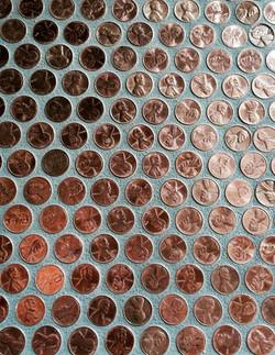 order pre-made penny tile on mesh