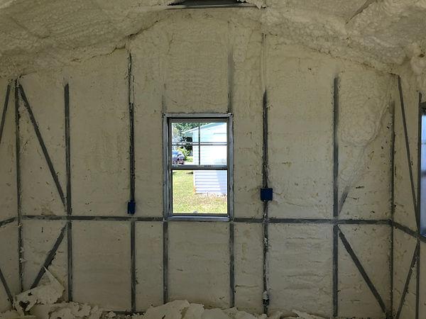 Metal building insulation foam