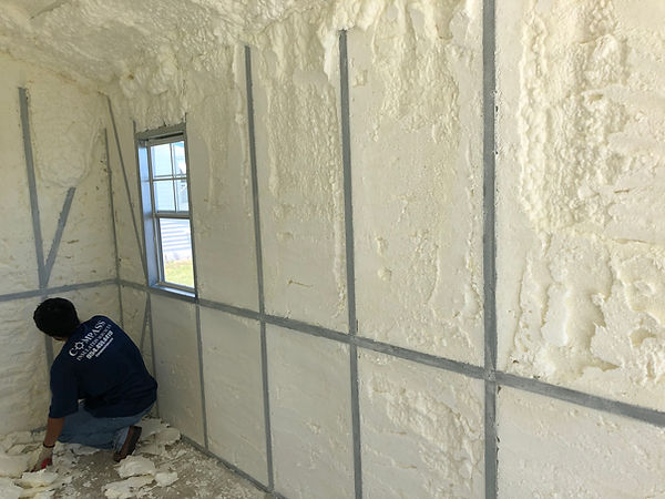 Metal car storage building foam insulation