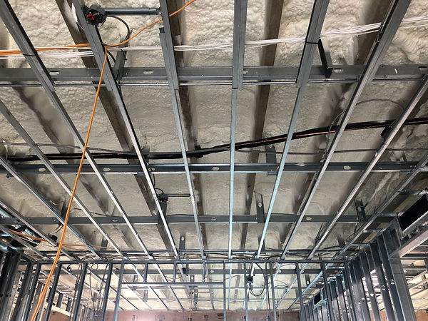 Commercial building spray and fire insulation