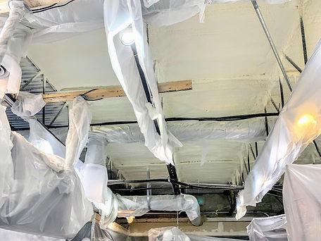 spray foam insulation install process on