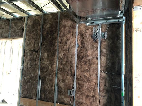 Sound insulation for commercial building