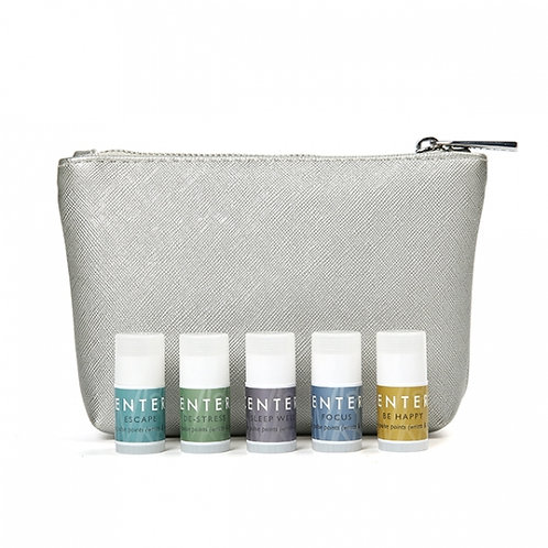 Mindful Aromatherapy Mini Balms in Silver Pouch