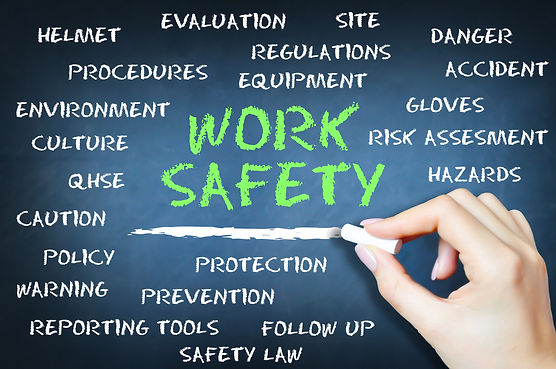 Work safety to prevent accidents concept