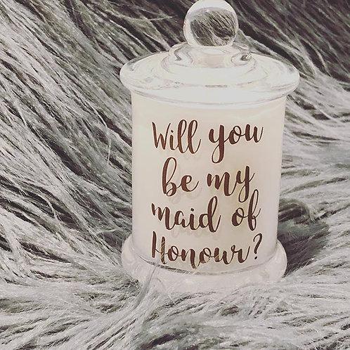 Petite Bridal Proposal Candle
