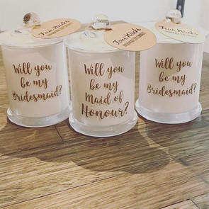 Bridesmaid proposal Candles! Our most popular candle to complete those special proposals! Candle made of soy wax with your choice of scent.jpg