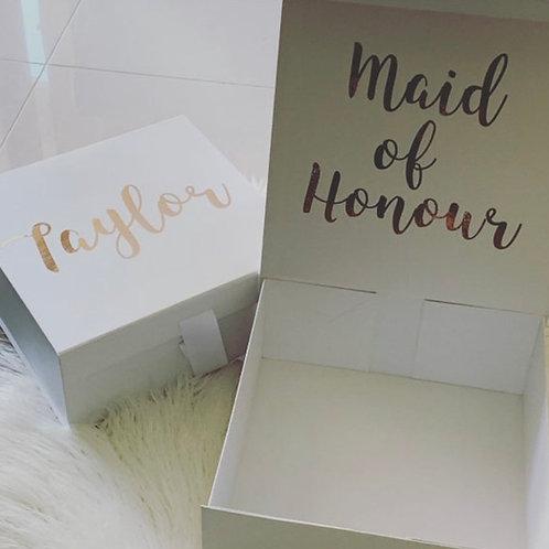 Personalised Proposal Hamper Box