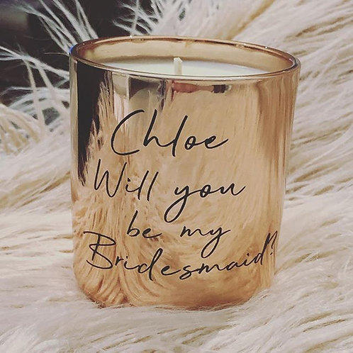 Lux Bridal Party Proposal Candle