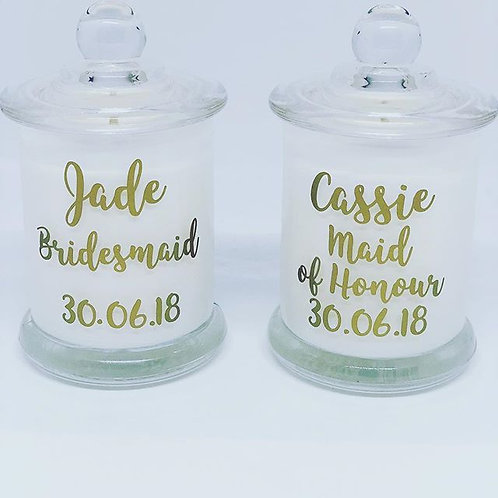 Petite Bridal Party Candle