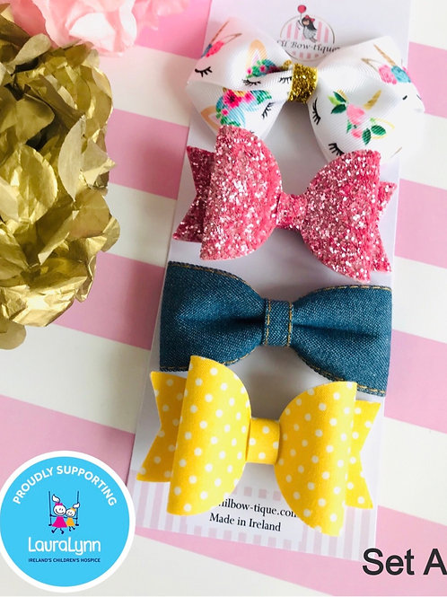 Charity Bow Clip Set