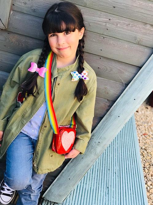 Rainbow Bag & Bow Set